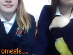 Schoolgirls strip on webcam