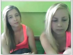 Two girl strip on webcam